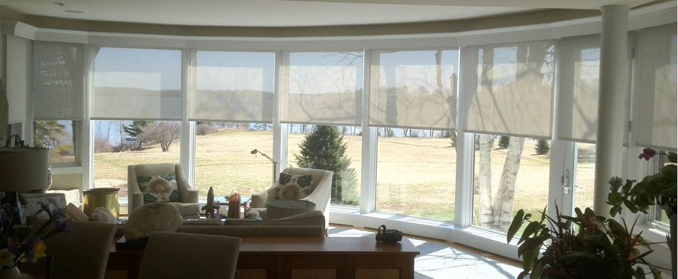 Curved windows by Solarize Window Insulators of Arundel ME