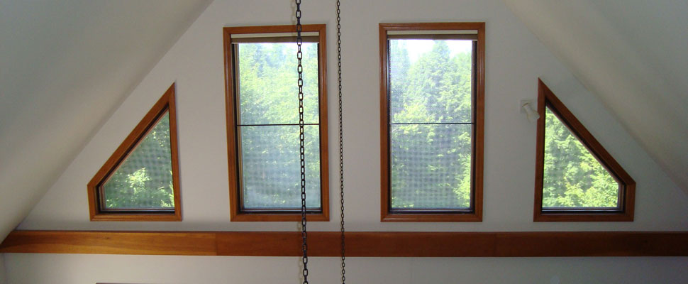 Odd shaped windows by Solarize Window Insulators of Arundel ME