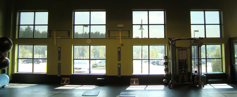 Quest Fitness' windows by Solarize Window Insulators of Arundel ME